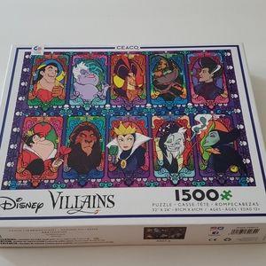 1500pc Disney Villains Puzzle + Poster